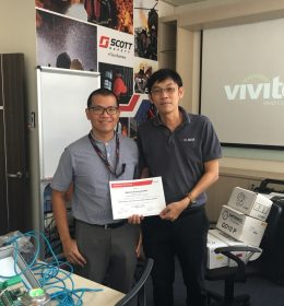 Simtronics Product Training at Singapore Office